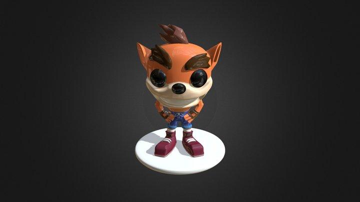 Crash Bandicoot Funko Style 3D Model