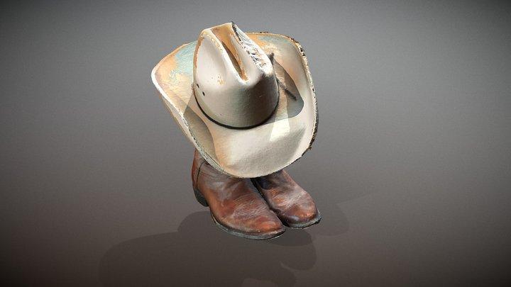boots and cowboy hat 3D Model