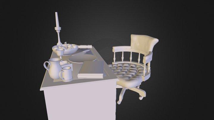 CaptainsDesk 3D Model