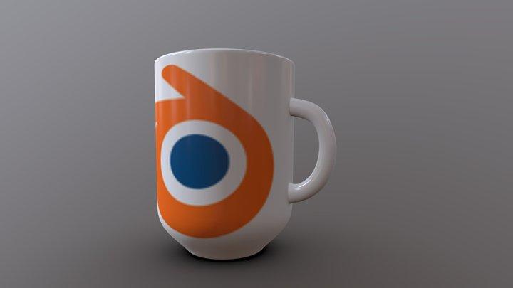 MUG with Blender logo 3D Model