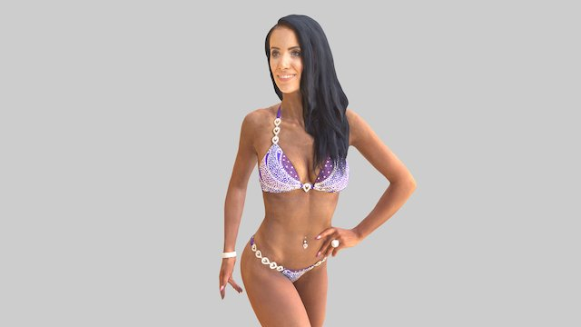 Veronika Bikini Fitness European Champion 2016 3D Model