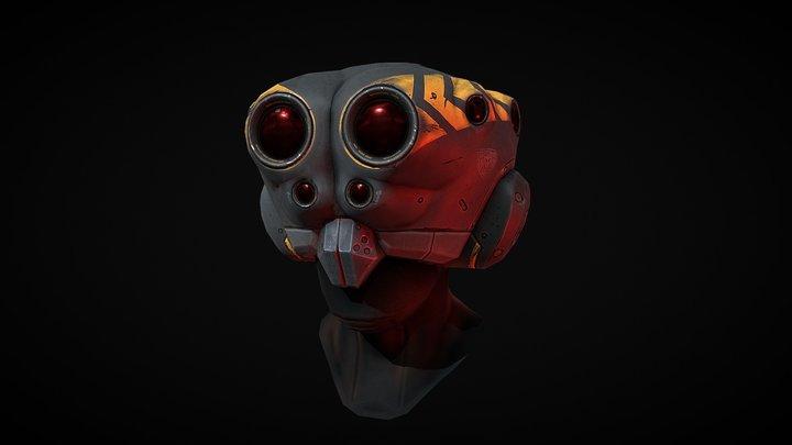 Spider Vision Helmet 3D Model