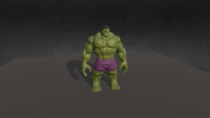 Hulk Game Character 3D Model