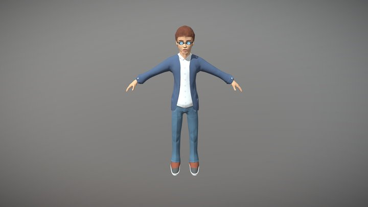 Nerd - prototype for a game 3D Model