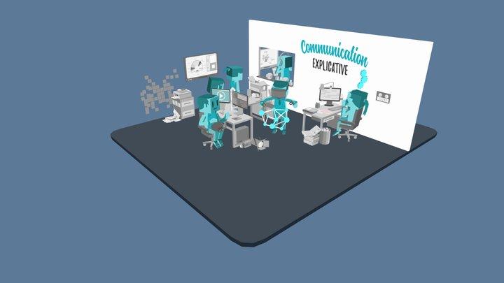 Office scene 02 3D Model