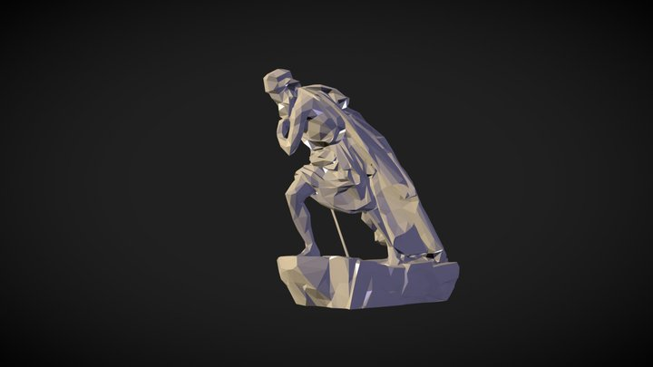Moses, low-poly 3D Model