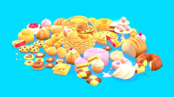 Pastries Pack 3D Model