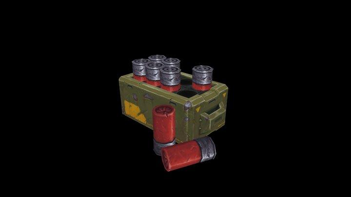 Retro Shooter - Shotgun Shells 3D Model