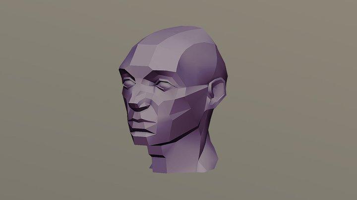 Asaro Head Complex Side 3D Model