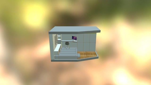 Aménagement bureau solution 1 3D Model