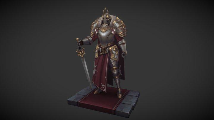 King's Guard Knight 3D Model