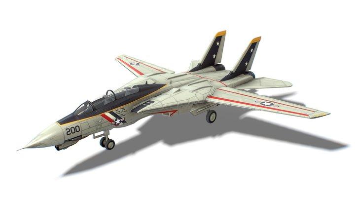 F-14 Tomcat Jet Fighter Aircraft 3D Model