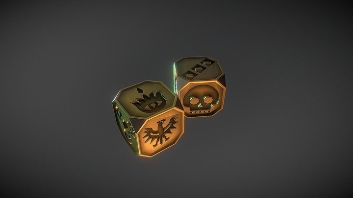 Bones for Dune Dice Game - board game free 3D Model