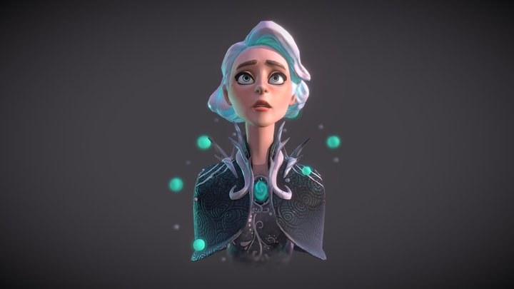 Winter Witch 3D Model