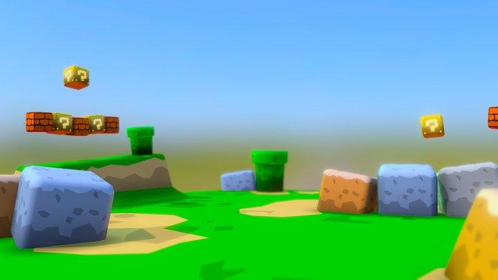 World 1-1 3D Model
