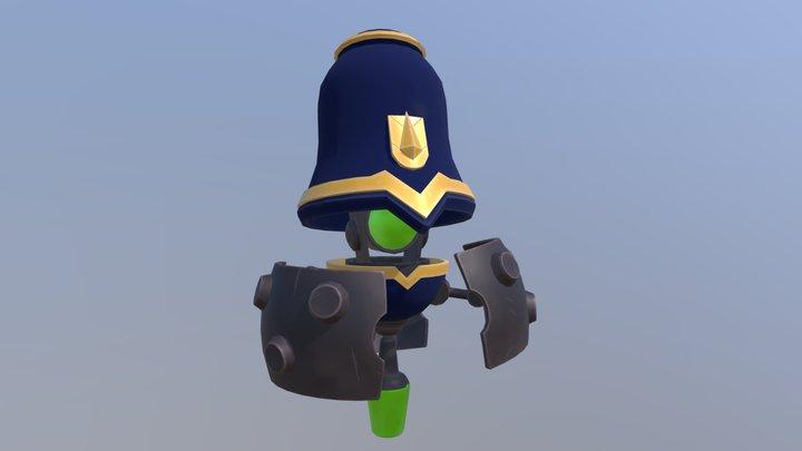 Flying Robot Cop 3D Model
