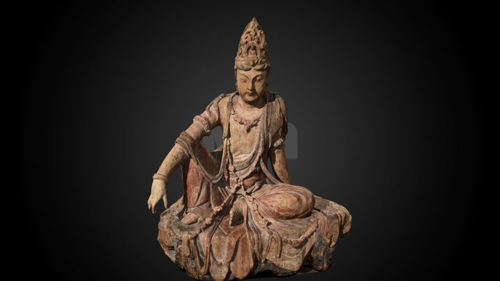 12th C CE Water-Moon Guanyin 3D Model