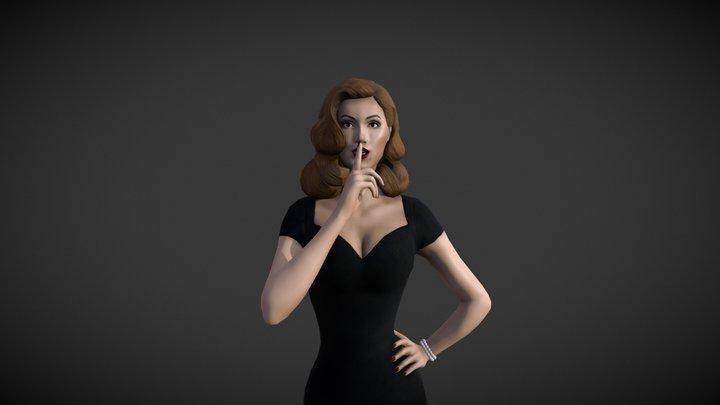 Vintage Girl 3D Model