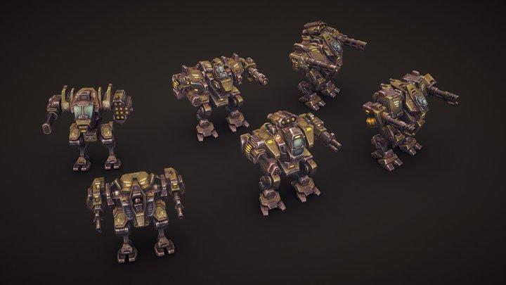 Mech Constructor: Light and Medium Robots 3D Model