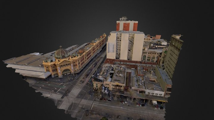 Flinders Street Tile 3D Model