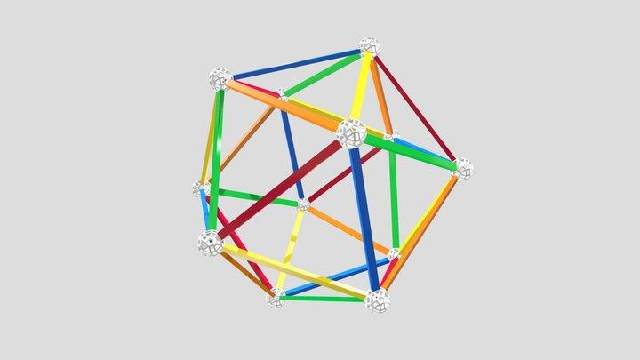 Icosahedron-A5-edges-2 3D Model