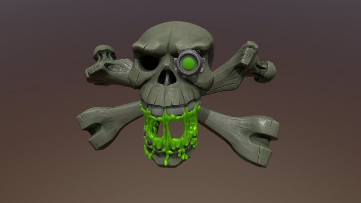Scull of Cybertroll 3D Model