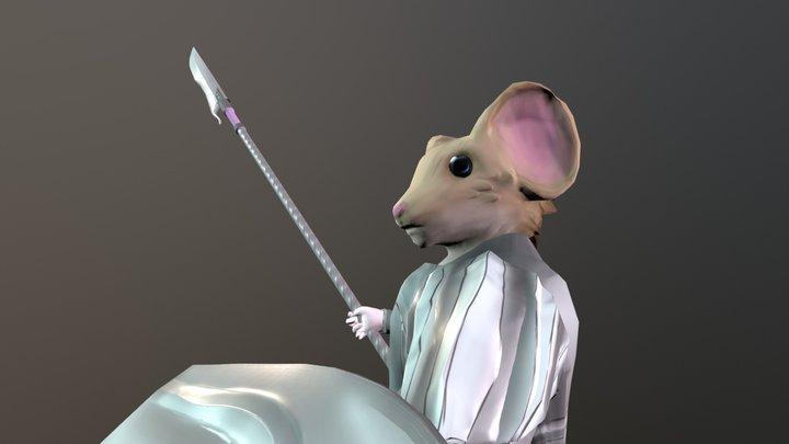 Mousefolk Paladin 3D Model