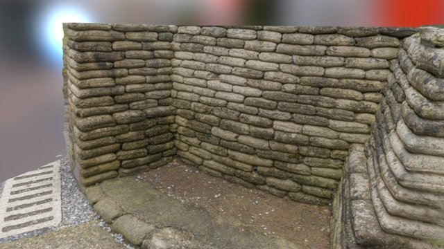 Preserved trench section in Vimy, France 3D Model