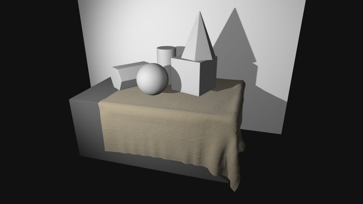 Basic shapes for academic drawing practice 3D Model