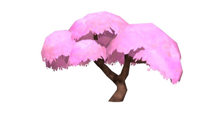 Cherry Blossom Tree (Hand painted) 3D Model