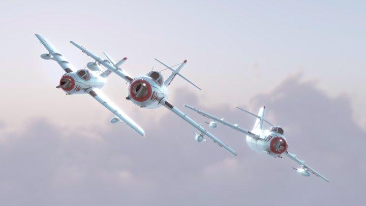 Mig-15 low poly 3D Model