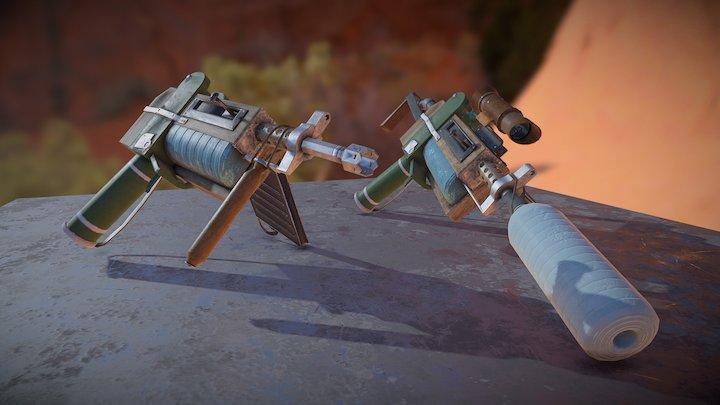 Post-Apocalyptic Pistol 3D Model