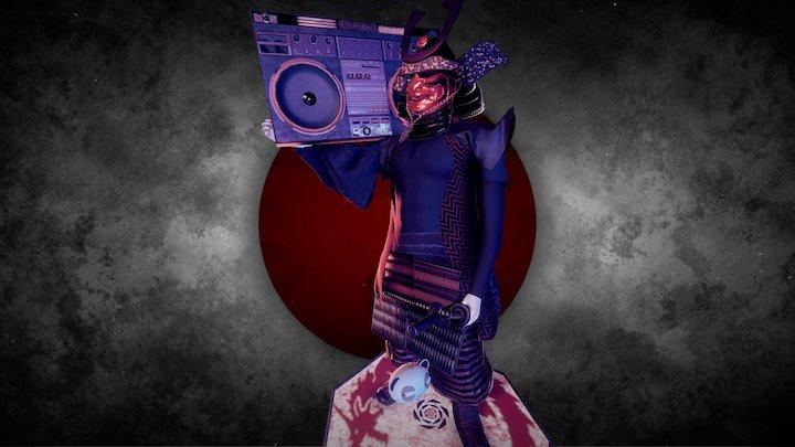 Hip-hop Samurai サムライ 3D Model