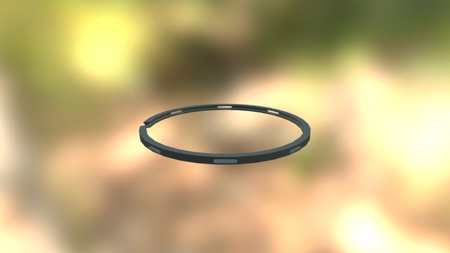 Маслосъемное кольцо 3D Model
