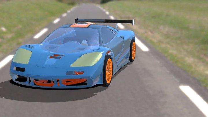 Mclaren F1 GT LMS 3D Model