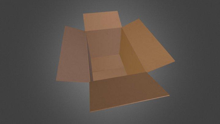 Caja de carton - Modelo 001 3D Model