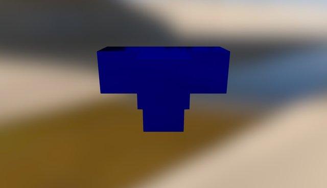 Blue Embed 3D Model