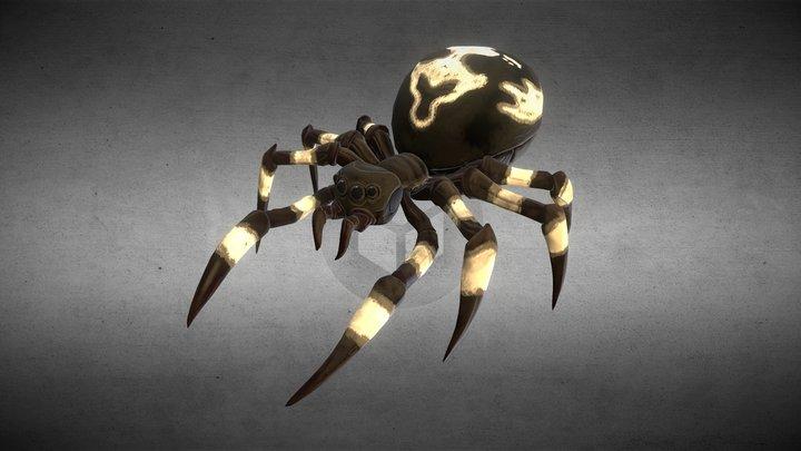 Spider Monster Black 3D Model