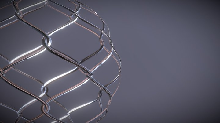Chain Link fence Material 3D Model