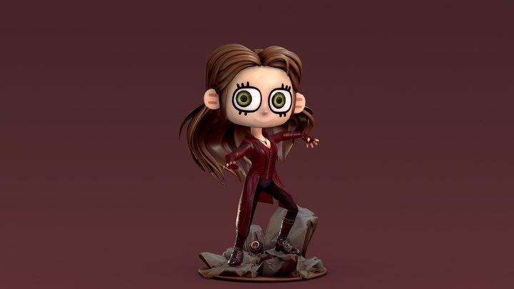 Wanda Maximoff - Avengers 3D Model