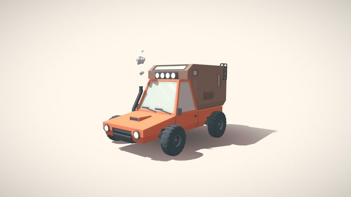 "Low-poly truck (car ""Drifter"") 3D Model"