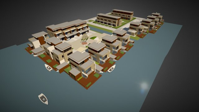 Oude Tol housing, Reeuwijk, the Netherlands 3D Model
