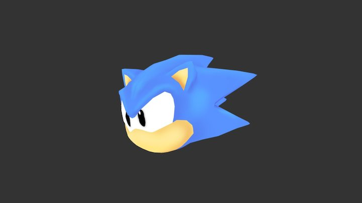 toei sonic Head 3D Model