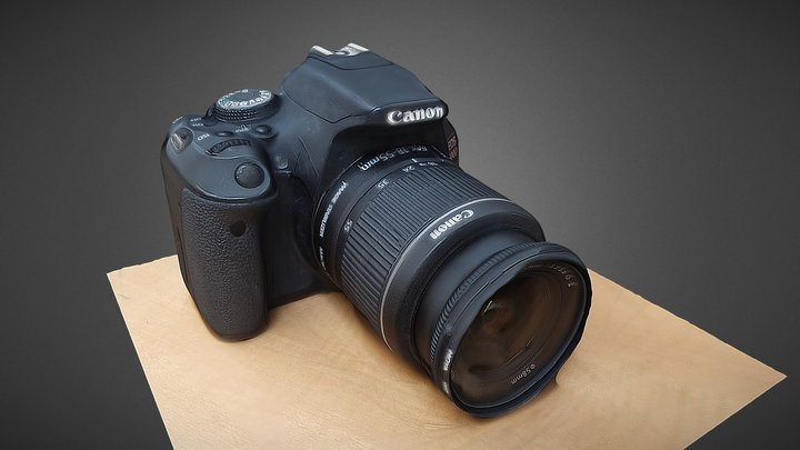 Canon EOS600D RAW Scan 3D Model
