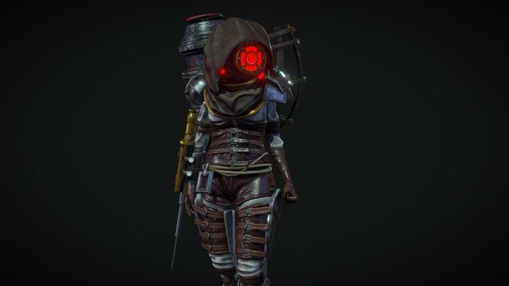 BioShock Big Sister (Fan Art) 3D Model