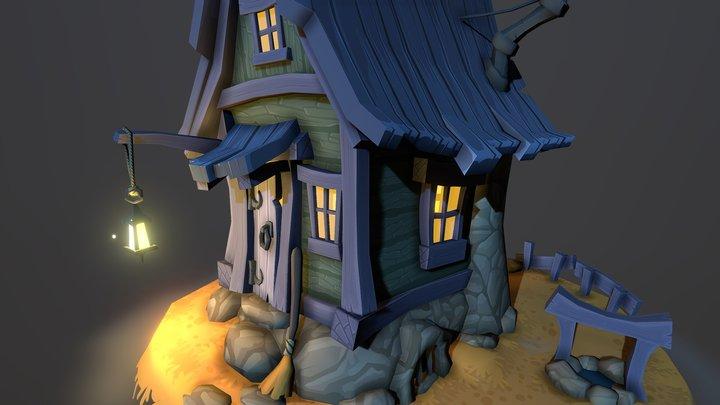Cabin On The Edge 3D Model