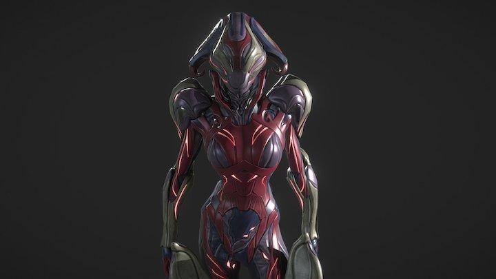 Mirage Sentience alt helmet and skin 3D Model