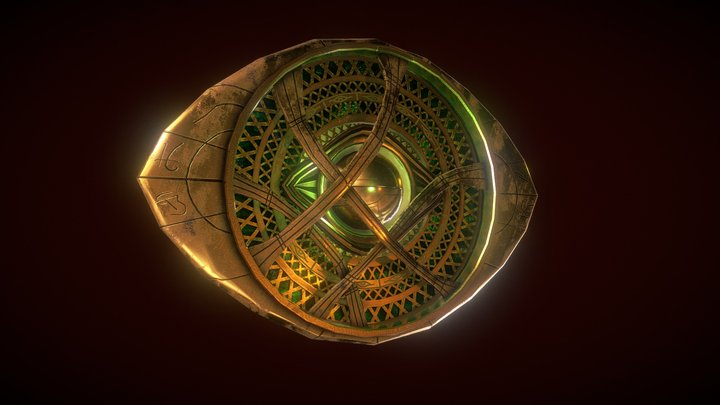 Dr. Strange Eye of Agamotto 3D Model