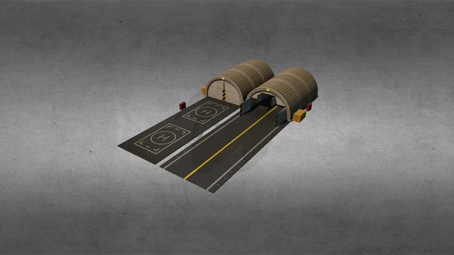 Aircraft Shelter 3D Model