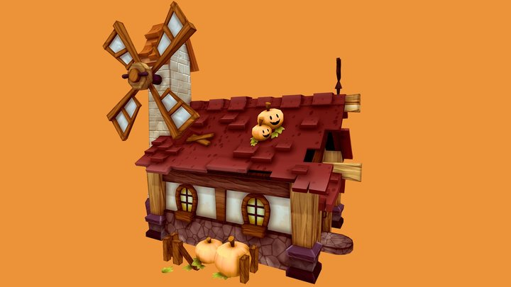 Pumpkin Farmer's House 3D Model